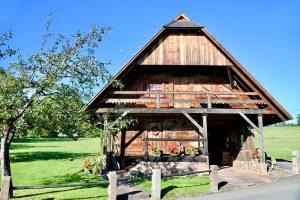 """die """"Kornspeicher Laube"""" wurde erstmals 1492 errichtet und stand im Original beim """"Altvogtshof"""""""