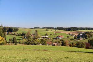 Blick über die Waldau nördlich von Königsfeld