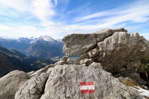 Wanderwegmarkierung in den österreichischen Alpen. Foto: insiderreiseziele.net