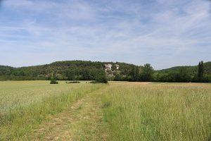ab St. Cirq weitet sich das untere Tal der Vezere auf mehr als einen Kilometer Breite