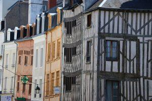 alte Fachwerkhäuser in der City von Orleans