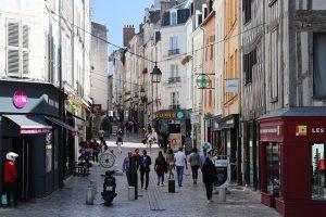 die Fußgängerzone von Orleans