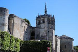 Das Chateau von Amboise auf der stadtinneren Seite
