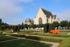 Im Innenbereich der Festung von Angers
