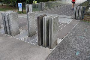die Gezeitenbrücke von Nantes - je nach Wasserstand ändert sie ihre Höhe