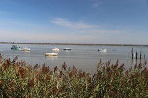 die Loire-Mündung bei Flut