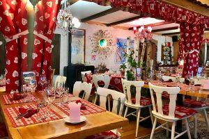 Die Gasträume der Ferme & Auberge de Liezey