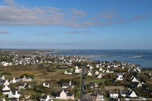 Blick von Penmarch entlang der Küste Richtung Guilvinec