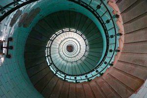 307 Stufen - immer im Kreis... im Phare d'Eckmühl