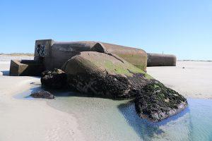 """Überreste des """"Atlantikwall"""" der Nazis an den Stränden der Bretagne"""