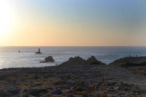 Beginn des Sonnenuntergangs am Pointe du Raz