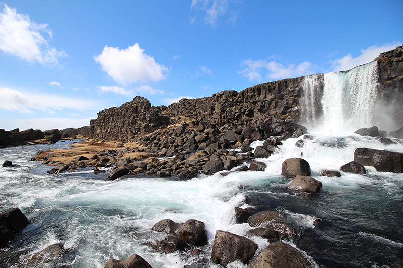 der Öxarafoss im Thingvellir Nationalpark
