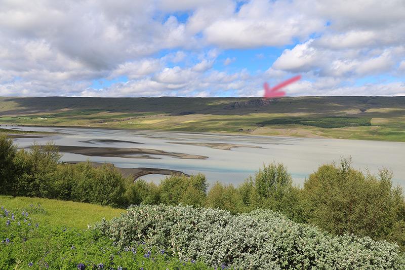 der Litlanesfoss liegt oberhalb des Lagarfljot