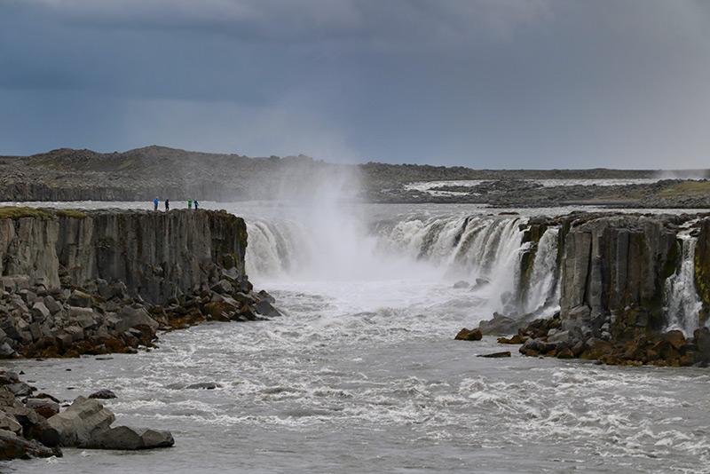 Der Selfoss liegt nur ca. 1 km nördlich des Dettifoss