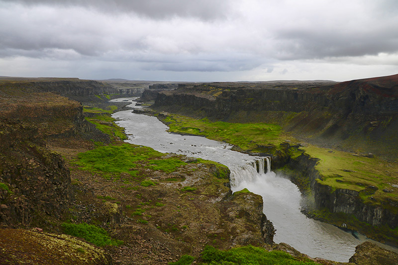 der Hafragilsfoss ist dem Dettifoss folgende Wasserfall
