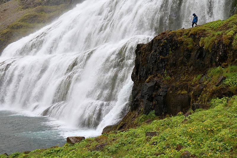 der imposanteste Wasserfall der Westfjords: der Dynjandi