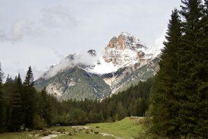 """am Passo Cimabance: Blick auf die """"Hohe Gaisl"""""""