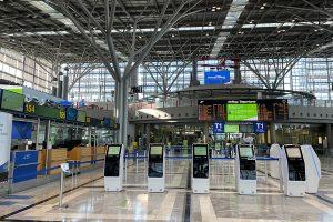 Menschenleerer Stuttgarter Flughafen. Foto: GOEDE