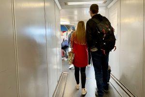 Boarding am Stuttgarter Flughafen. Foto: GOEDE