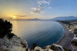 Panoramablick Strand von Kommos (Bucht von Messara). Foto: GOEDE