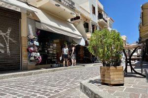 nahezu leere Straßen Anfang Juni 2021 in Rethymno. Foto: GOEDE