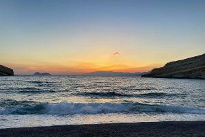.... und weils so schön war: nochmal die Abendstimmung in der Bucht von Matala. Foto: GOEDE