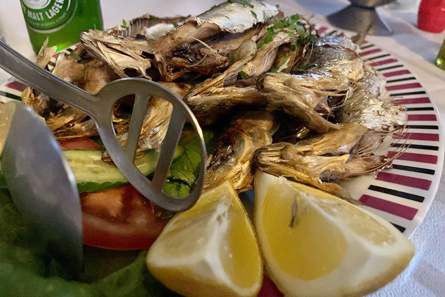 Fisch gegrillt - satt!