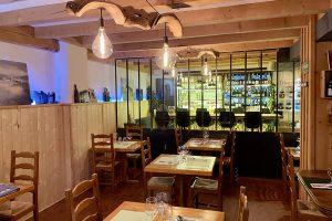 Blick in den Restaurantbereich des La Vigotte (2021)