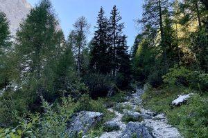 hinter der Talschlusshütte beginnt der erste steile Anstieg