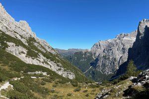 Blick von der Bödenalpe zurück ins Altensteiner Tal